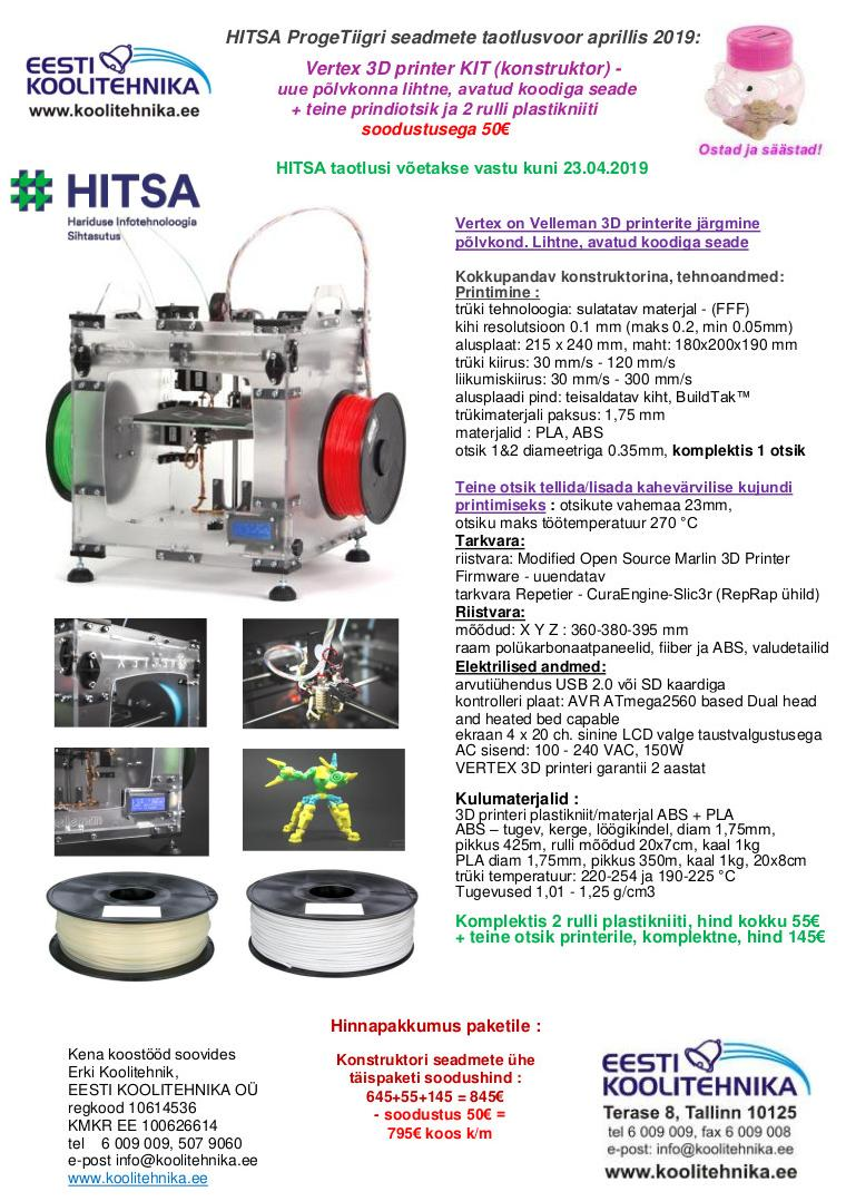3D printer VERTEX